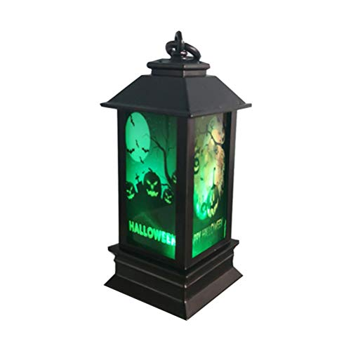 Amosfun 2pcs Halloween LED Licht Halloween Dekoration Lampe für Party (Tombstone Bats Pattern)