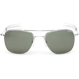 Randolph Sunglasses Aviator Bright Chrome AGX Glass 52 AF026 NEW
