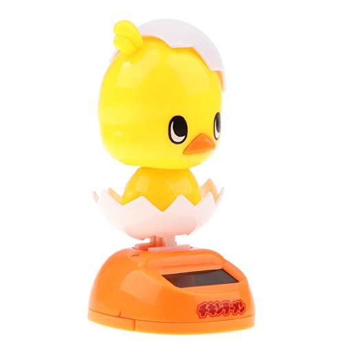 Morning May gelb farbiges Huhn tanzendes Spielzeug, solarbetriebenes Tier-Küken Ornament Auto Armaturenbrett Home Decor