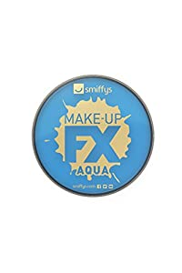 Smiffys Maquillaje FX Smiffy, Aqua Pintura Facial y de Cuerpo, Azul pálido, 16ml, a Base