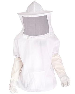 iiniim Profi Imker Bienenzucht Schutzanzug Imkerjacke Imkeranzug mit Handschuhe, Imker Overall Bienenanzug