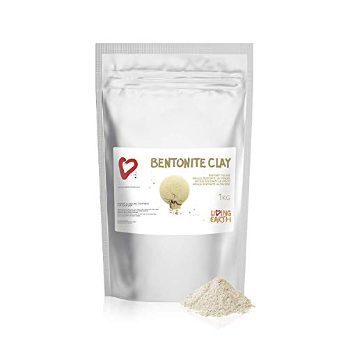 1kg - Living Earth Bentonit Pulver. Tiefe Porenreinigung - Premium Qualität, sehr fein - Kosmetik ohne Tierversuche - Nur zur äußerlichen Anwendung - Vegan