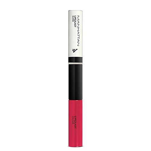 Manhattan Lips2Last Colour&Gloss - Lippenfarbe und Lipgloss in einem - Farbe Strawberry Pink 43H - 1 x 8ml - Von Strawberry Lip Gloss