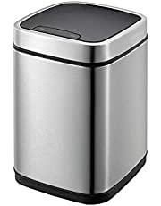 Unibird Stainless Steel Sensor Dustbin Automatic Touchless Trash Can with Plastic Inner Bucket Rubbish Garbage Waste Bin|Kitchen Home Office Sensor Bin- 9 LTR.(Silver)