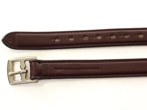 HyCLASS Steigbügelriemen aus Größen 121,9cm oder 121,9cm und Farben dunkelbraun oder schwarz)-nicht Stretch Core für Stärke und Stil. Braun dunkelbraun 137,2 cm -