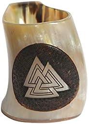 Viking Ox Horn Drinking Mug – Unique Medieval Inspired Mug – 100% Authentic Drinking Horn Mug with Food-Safe C