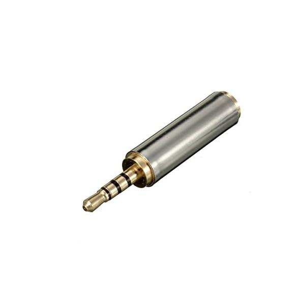 Adattatore 2.5mm a 3.5mm, ELEGIANT 3,5 mm Maschio a 2.5mm Femmina stereo auricolare Jack Audio per Microfono Cuffie Auricolari