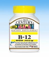 21st Century Health Care, B-12, 500 mcg, 110 Tablets -