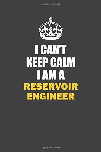 I Can't Keep Calm I Am a Reservoir Engineer: Inspirational life quote blank lined Notebook 6x9 matte finish (Reservoir Engineer)