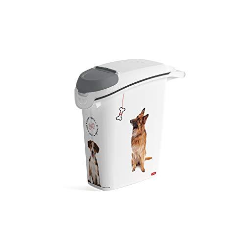 Curver Love Pets Pet-Futter-Container Futtercontainer Behälter Futterbehälter Futtertonne (Hund, 10kg)