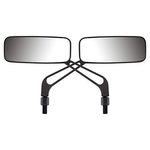 Ryde Motorradspiegel - schlicht - rechteckig - Schwarz