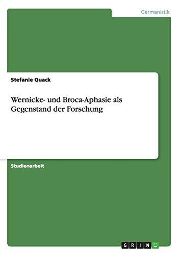 Wernicke- und Broca-Aphasie als Gegenstand der Forschung