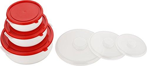 Kigima Mikrowellen - Kochtopf - Frischhalte und Tiefkühlset Set 3-teilig 0,5, 1 und 2 Liter