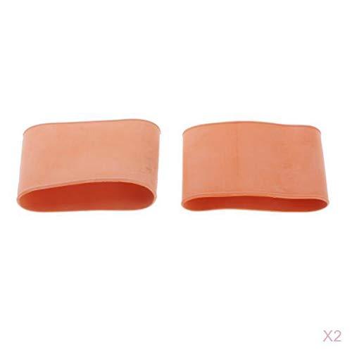 SM SunniMix Wetsuit Drysuit Ankle Seals Gummi Neoprenanzug Ärmel, Orange, 4er Set