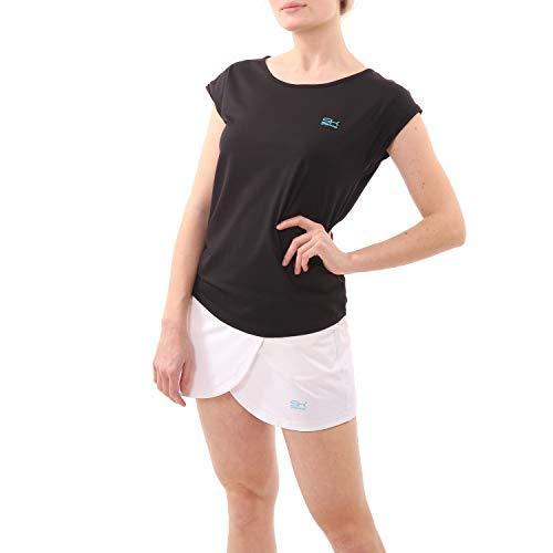 Sportkind Mädchen & Damen Tennis/Fitness/Sport Loose Fit T-Shirt, schwarz, Gr. XXL