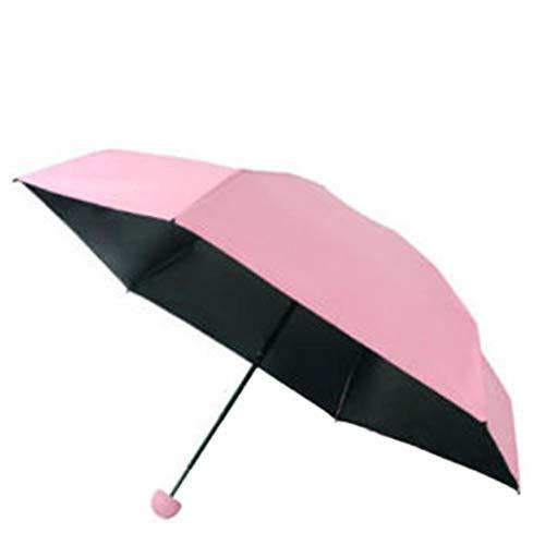 Chenang ombrello ombrello per uomo e donna maniglia non scivolosa,ombrelloniombrello per esterno da viaggio,ombrello da viaggio ombrello pieghevole ombrello portatile (rosa)