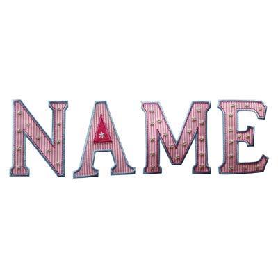 5 letras 5cm TrickyBoo puntadas bordados batas termoadhesivo