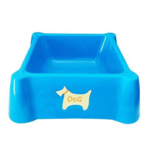 Lppanian Biss Dog Bowl Hund Topf Teddy Hundefutter Katze Pot Pet Schüssel Einzelschale Kleine Hund-Doppel-Schüssel Rice Becken Liefert Square-Blue Geeignet Für Hunde Unter 25 Jahren -