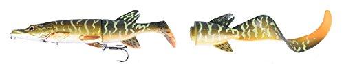 Savage Gear 3D Hybrid Pike, Hechtköder, Angelköder für Hecht, Hechtwobbler, Hybridköder, Gummifische, Wobbler, Farbe:Pike;Länge / Gewicht:17cm -45g