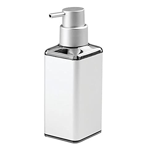 InterDesign Metro Ultra Rustproof Aluminum Soap Dispenser Pump For Kitchen, Bathroom Vanities - Square,