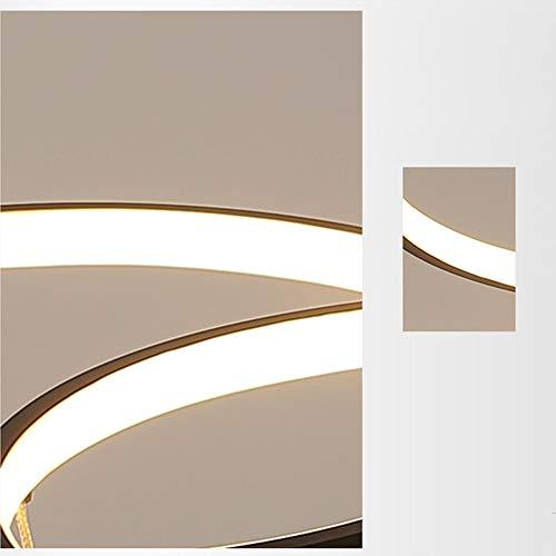 LED Wohnzimmerlampe Deckenleuchte Dimmbar 3000K-6500K Acryl-Schirm Fernbedienung Lichtfarbe/Helligkeit Einstellbar Deckenlampe Moderne Chic Designer-Lampe für Esszimmer Schlafzimmer Küche Flur Lampe