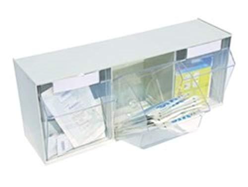 Fach-spritze (Spritzen- und Kanülenspender, Aufbewahrung Box für Spritzen Kanülen Kleinteile, Größe: 3-fach 16,3 x 24,3 cm, weiß)