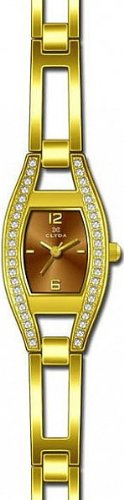 Clyda CLG0091HMBX Women's Analog Quartz Watch with Yellow Steel Bracelet
