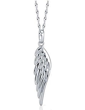 925 Sterling silber Engel flügel Anhänger Halskette mit Sterling Silber kette 45cm klein