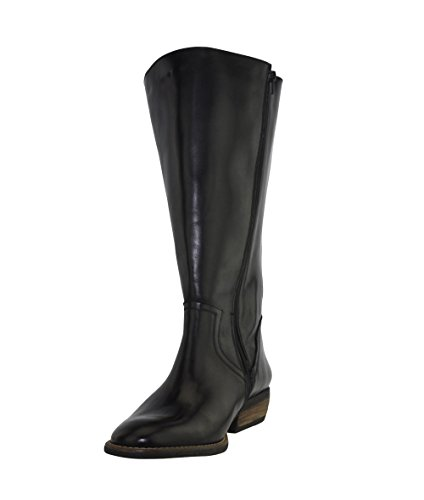 JJ Footwear Damen Stiefel Leder Alexandria XXL Schwarz Dream-Nat