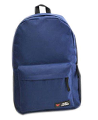 kiss-goldtm-unisex-nylon-rucksack-backpack-schulrucksack-reisetasche-marineblau