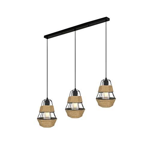 Allabcd 3-Luces Cuerda del cáñamo de la Linterna de la lámpara, de ...