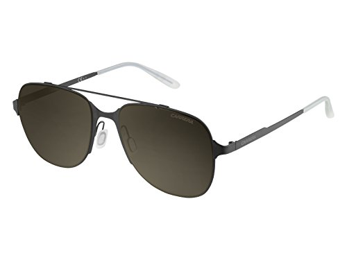 Carrera Herren 114/S 70 003 Sonnenbrille, Schwarz (Matt Black/Brown), 55