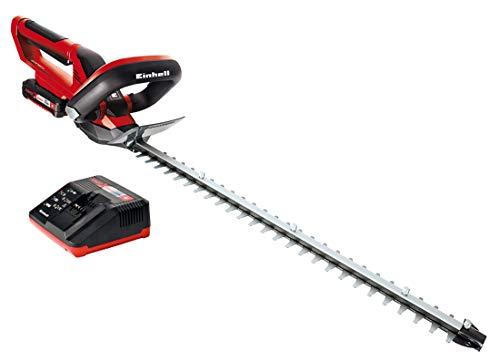 Einhell Akku-Heckenschere GE-CH 1855/1 Li Kit Power X-Change (Li-Ion, 18 V, 55 cm Schnittlänge, lasergeschnittene, diamantgeschliffene Messer, inkl. 2,0 Ah Akku und Ladegerät.)