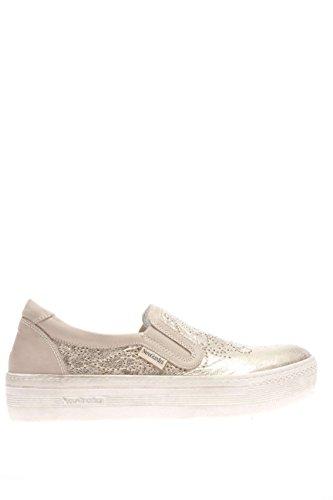 P615260D-415.Sneaker slip on pelle.Platino.40
