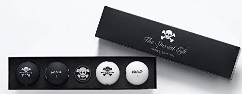 Volvik Unisexe Tête de Mort Cadeau de Golf Lot, Noir et Blanc