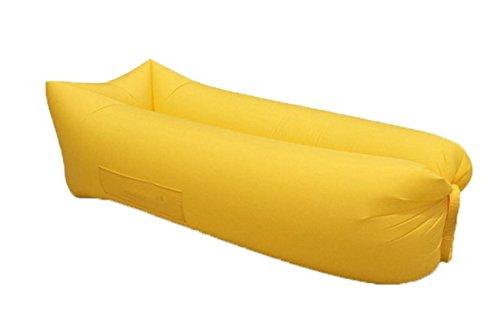 ZERUU® Aufblasbarer Strandliege-Luftschlafsack-im Freiensofa Bequemer aufblasbarer Aufenthaltsraum-bewegliche Kompression Sofa-Luft-Beutel-im Freien Kompressions-Luft-Betten, beweglicher Stuhl, Luftmatratzen Beds.Ideal für das Lounging (Green) - 4