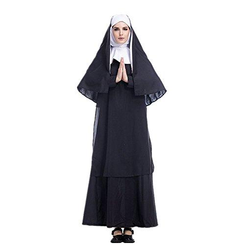 Imagen de adulto disfraz de monja para mujer cosplay monja stage show carnaval halloween
