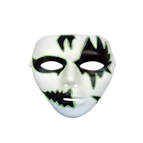 Prevently maschera cosplay, nuovo creativo luminoso maschera costume di halloween party maschera horror scheletro maschera intera per carnevale festival party, colour a