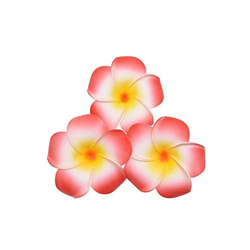 Strawberryran Plumeria 10Pcs 06.05/08.07 / 9cm PE-Schaum künstliche Blumen Hochzeit Dekoration Ei Blumen, Rosa, M Cherry Blossom Vase Medium