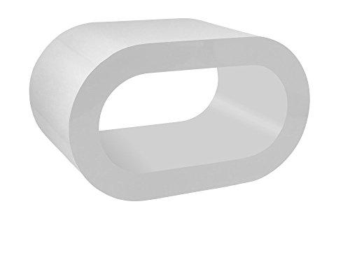 Zespoke Design Retro TV Tout Blanc Table Basse Cerceau/Meuble en Différentes Tailles