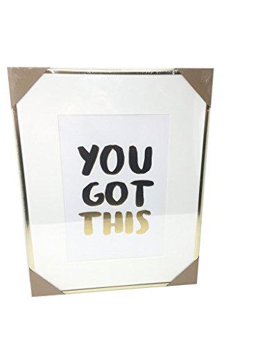 TWELVE NYC/QUETICO Feiern Shop You Got Dieses Inspirierende gerahmt Gold 18x 14