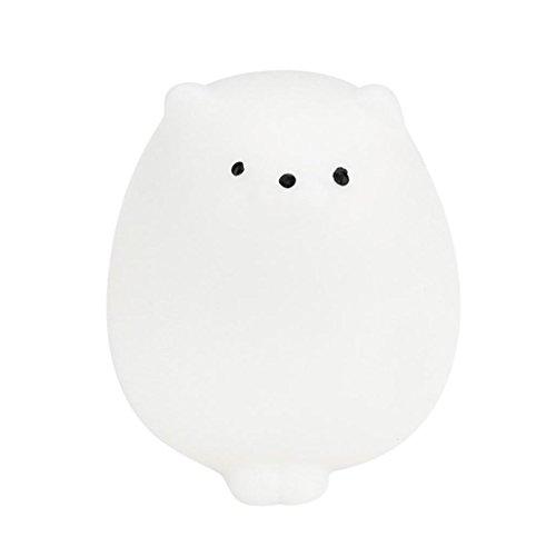 Venta caliente ! Lindo Mochi gato blando,FeiXiang Cute Mochi Squishy Cat Squeeze Healing Fun Kids Kawaii Toy Stress Reliever Decor (E)