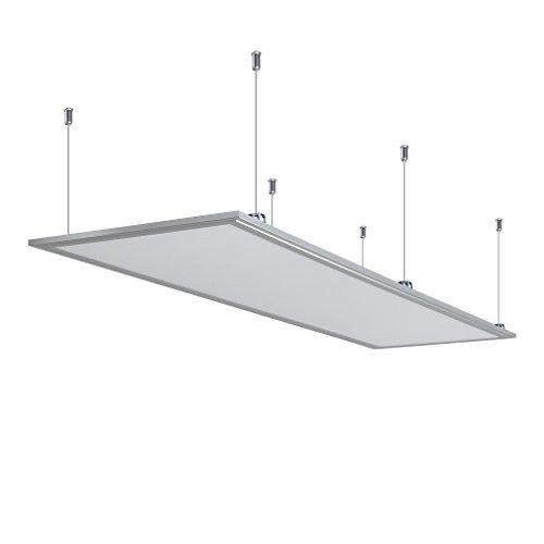 Anten LED Panel Hängeleuchte Deckenleuchte Deckenlampe, 40W, 2700 Lumen, Warmweiß-3000K, rechteckig 30x120 cm, IP20, mit Befestigungsmaterial und LED Treiber
