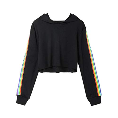 op Pullover Hoodie Sweatshirt Damen Kapuzenpullover Bekleidung Mädchen ()