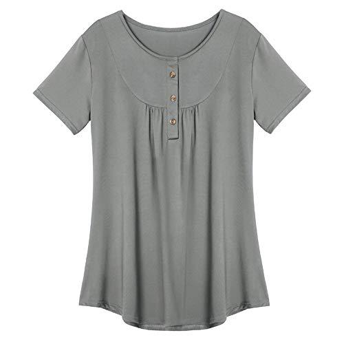 Damen Elegant Business Chiffonbluse Schluppenshirt T-Shirt mit Schleife V-Ausschnitt Einfarbig Tops Damen Lose Patchwork Bluse Oberteil Tees T-Shirt Tops A08 5XL -
