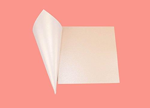 Papierkegel, 50Stück, Perleffekt, glänzend, 250g, Größe 15 x 15cm, Bastelmaterial, DIY, Reisbehälter, Gastgeschenke bianco ghiaccio