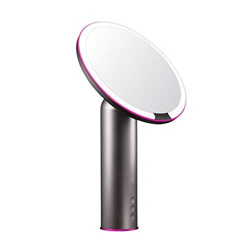SMDQ Tageslicht-LED der O-Serie mit Licht Intelligente 6-Gang-Einstellung 3 Arten von Lichtquellen sollten geladen Werden Desktop Desktop-Licht HD-Spiegel,Black (Plug-in-licht-spur)