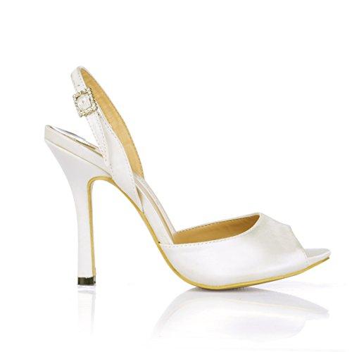 Frauen heiraten Sandalen Abendessen Fisch tipp Frauen Schuhe Creme, high-heel Schuhe, Opal -