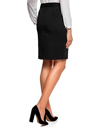 oodji Collection Donna Gonna Basic Dritta Nero (2910S)