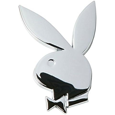 emblema del coche del cromo sexy conejo de conejito pegatina insignia calcomanía 3D